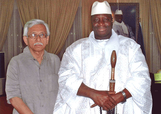 With HE Yahya Jammeh, President of Gambia