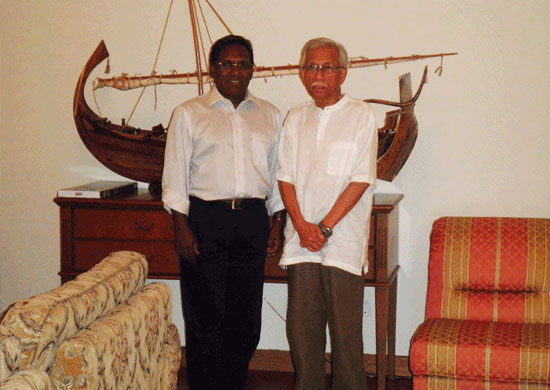 With HE President of Maldive